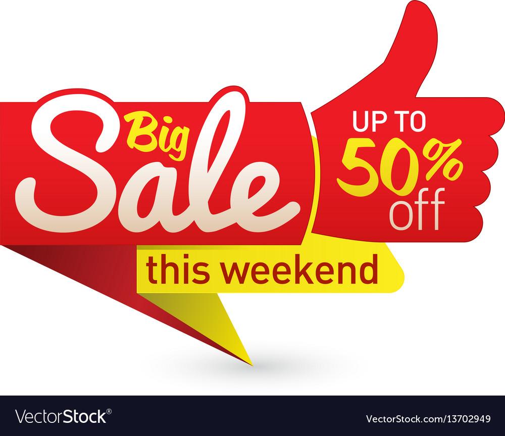 Big sale price offer deal labels templates vector image.