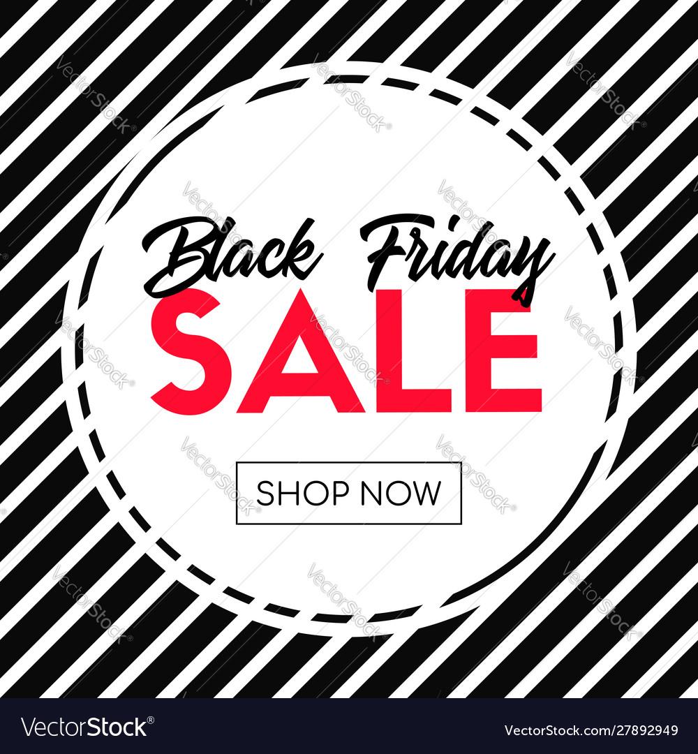 Black friday sale shop now striped banner