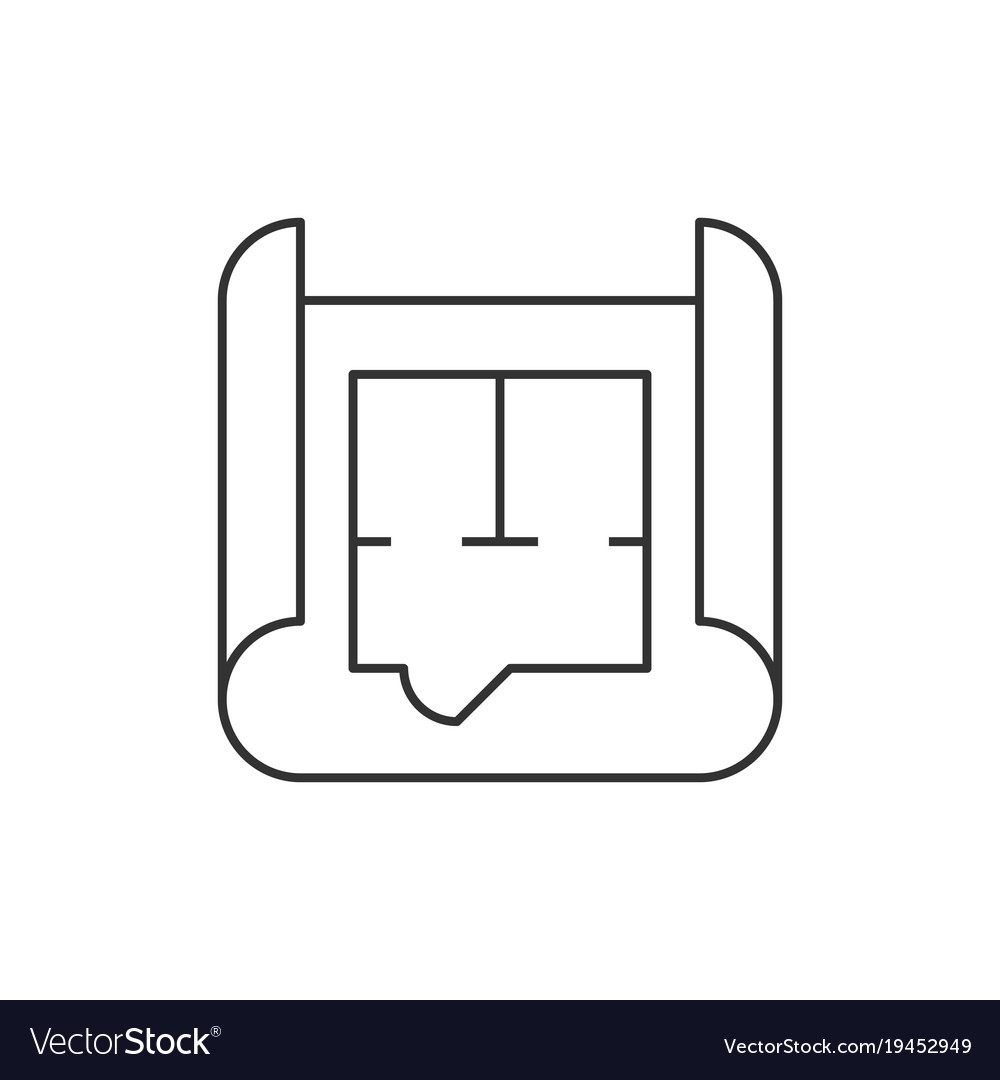 Blueprint roll outline icon royalty free vector image blueprint roll outline icon vector image malvernweather Image collections