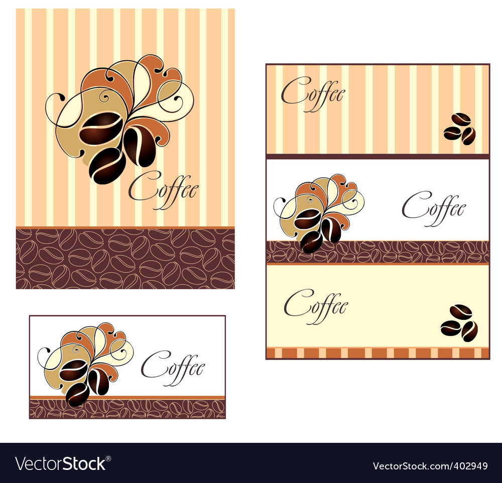 Coffee cup design with beans vector image