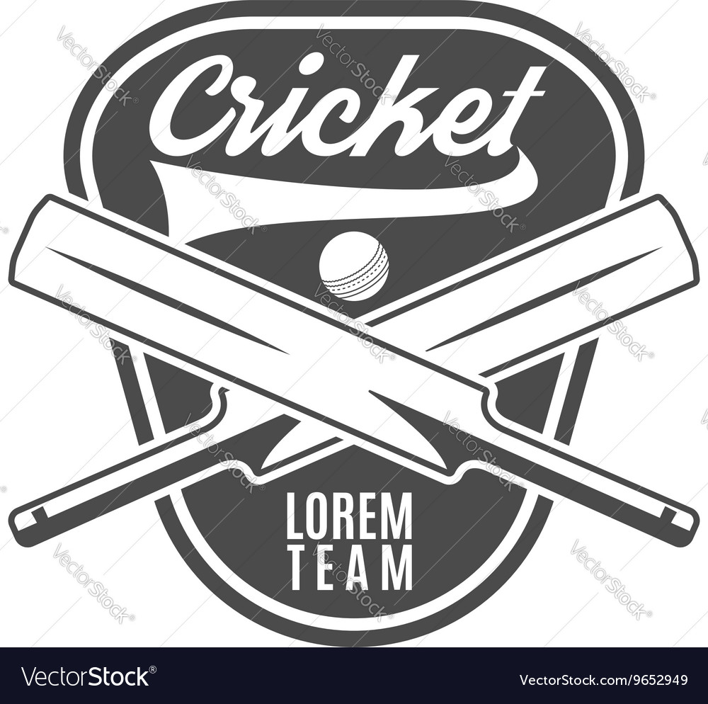 Cricket team emblem and design elements logo