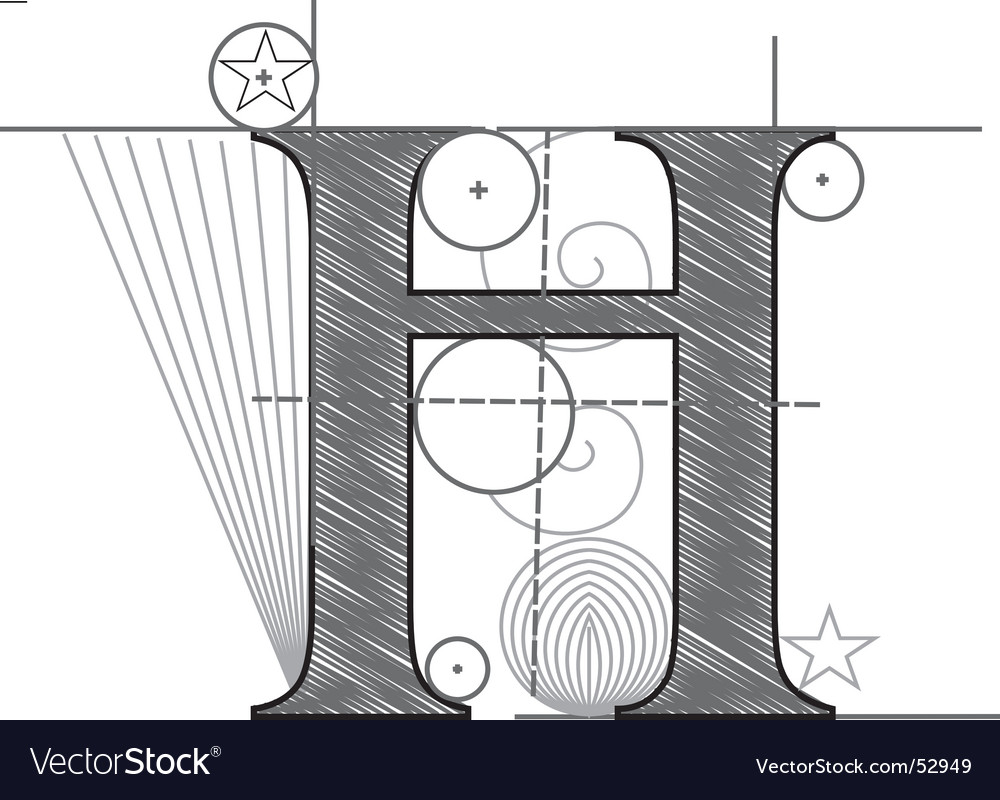 H vector image