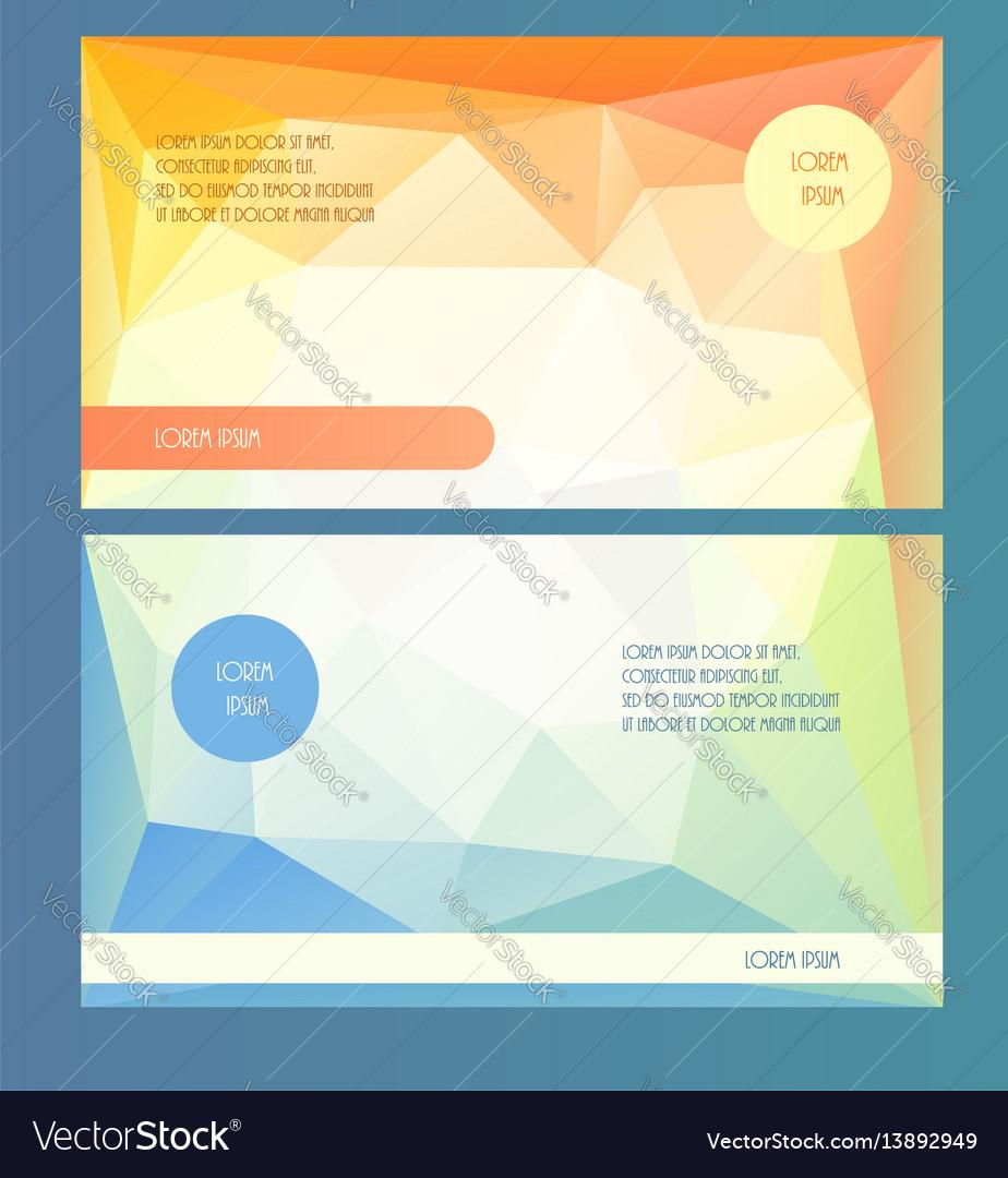 Horizontal presentation booklet template Vector Image