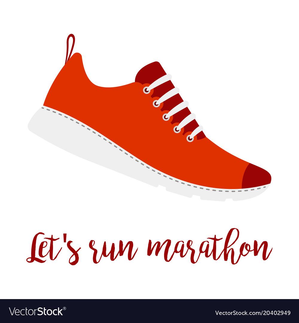Lets run marathon style shoe
