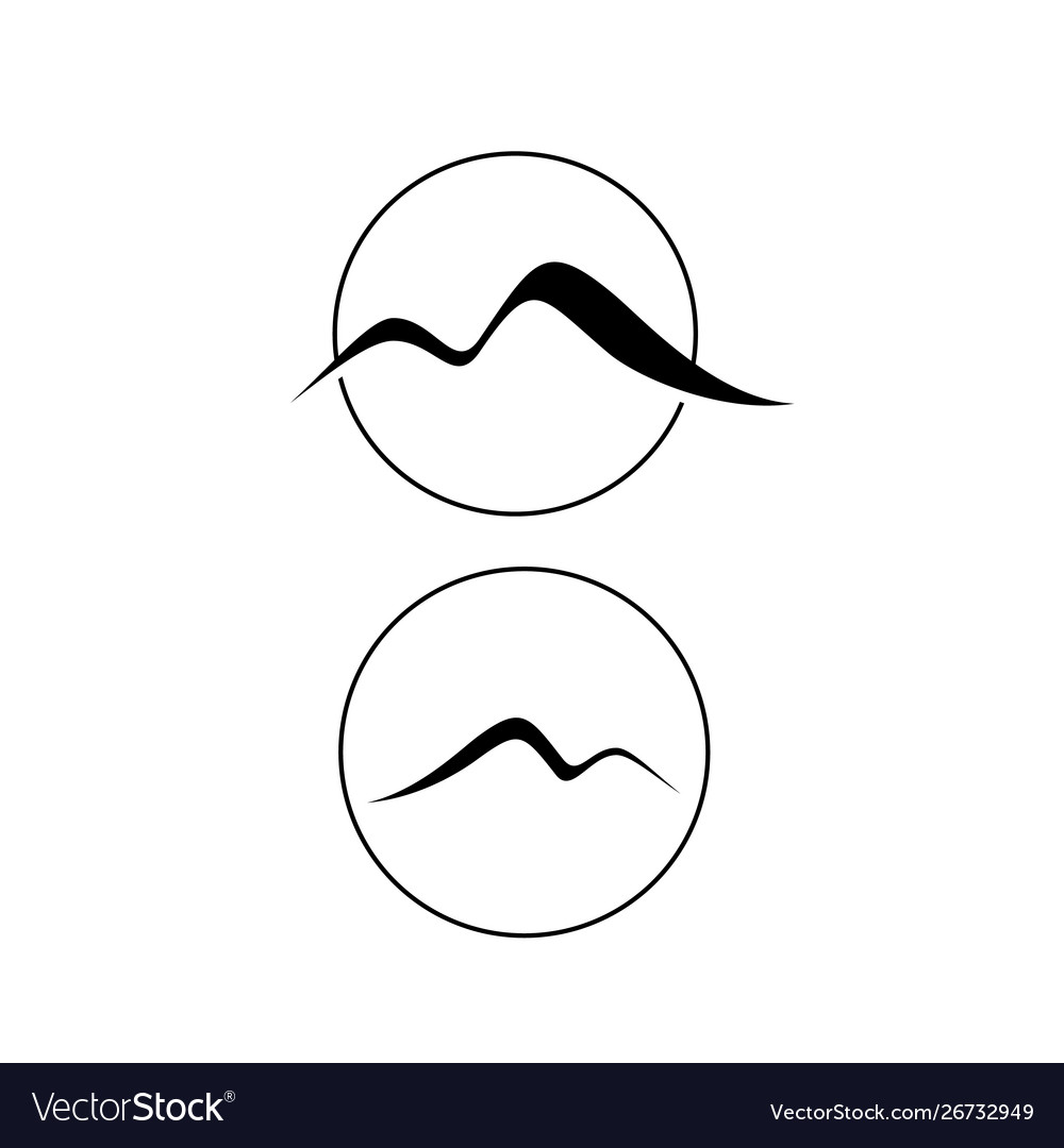 Stylish simple m letter mountain logo design
