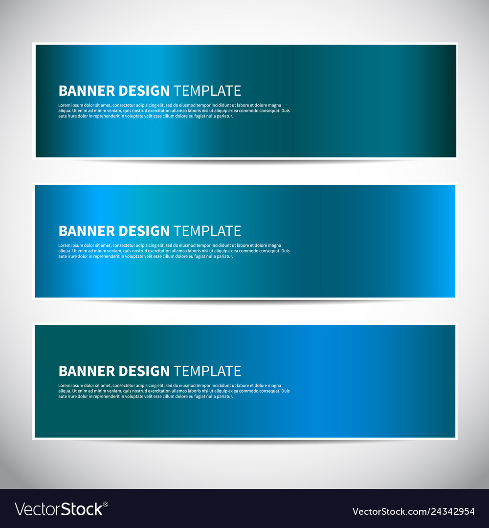 Banners blue shiny glossy gradient banner