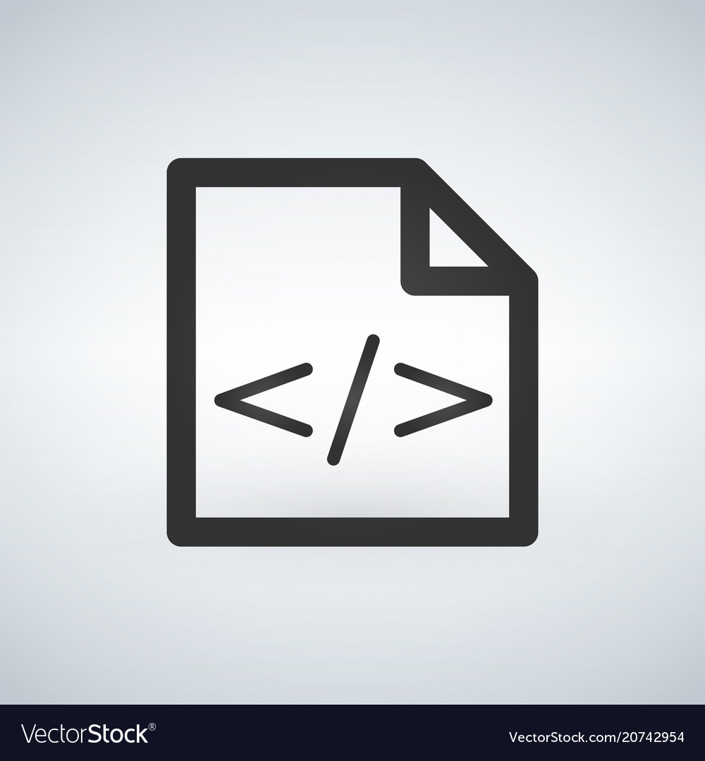 Coding page icon isolated on modern background vector image