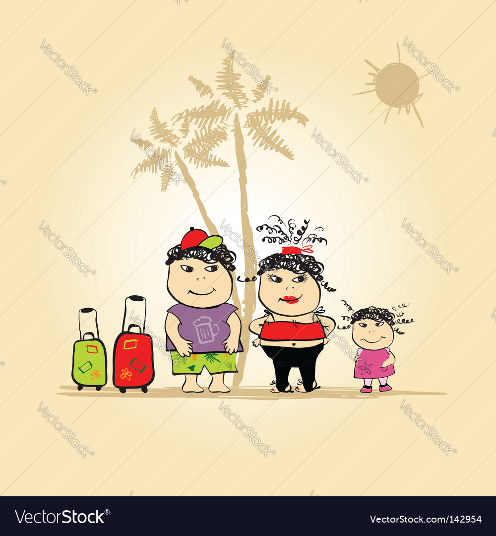 Family holiday vector image