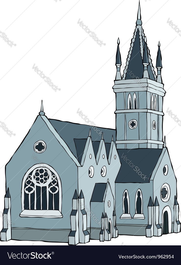 Gothic building vector image