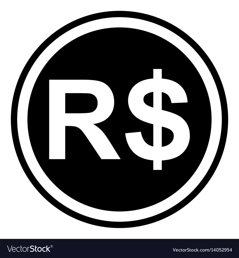 Sign The Brazil Currency Brazil Real Royalty Free Vector