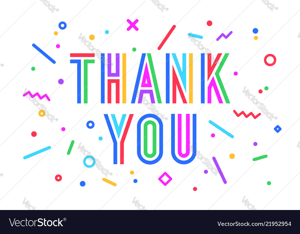Thank you greeting card banner poster
