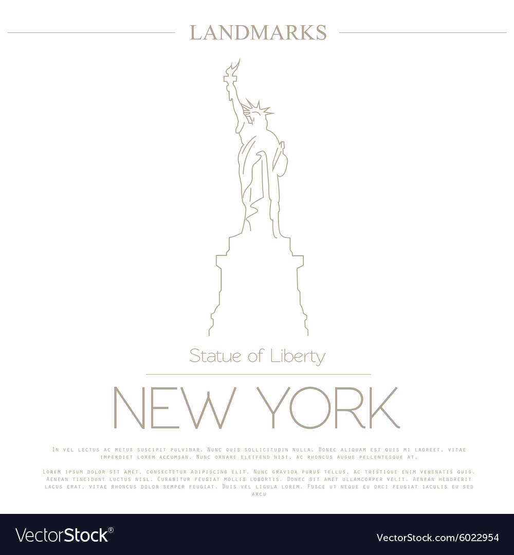 World landmarks New York USA Statue of Liberty