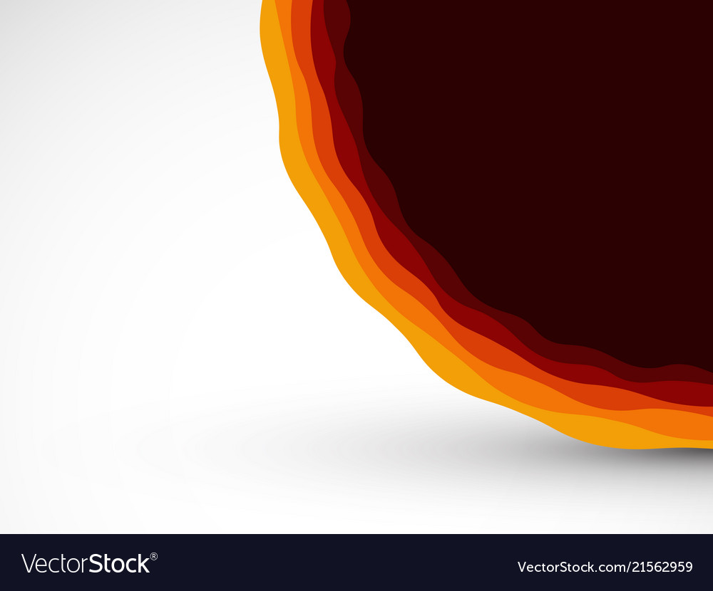 Abstract red orange waves background
