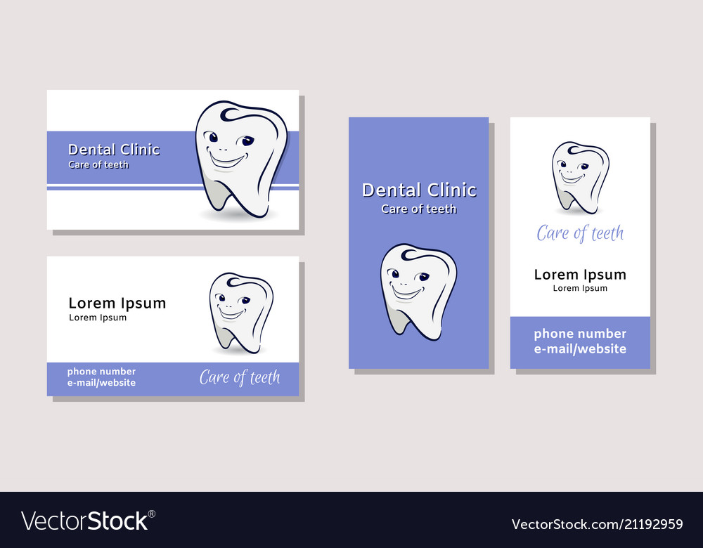 Business card templates for dental clinics vector image reheart Gallery