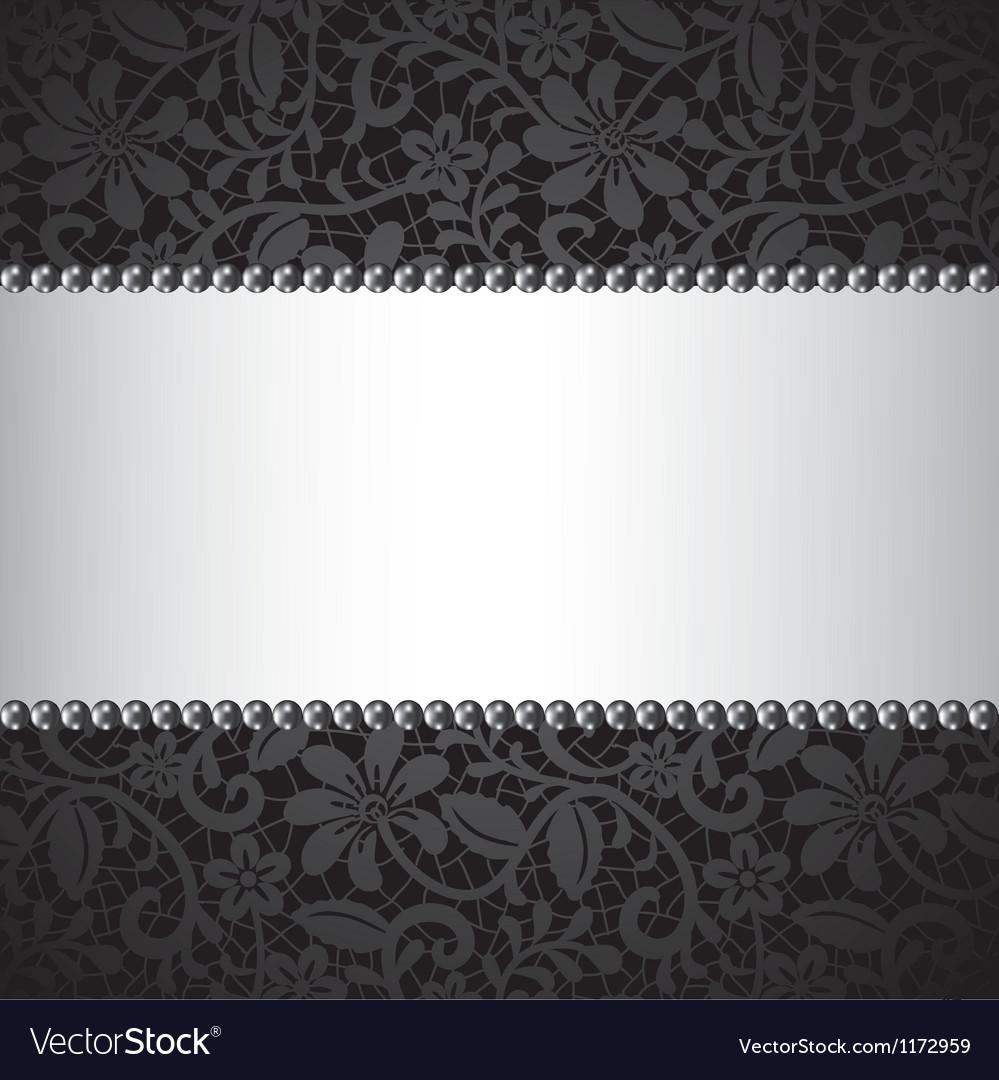 Dark lace card