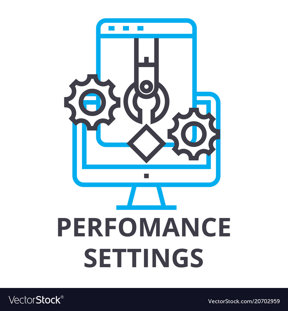 Perfomance settings thin line icon sign symbol