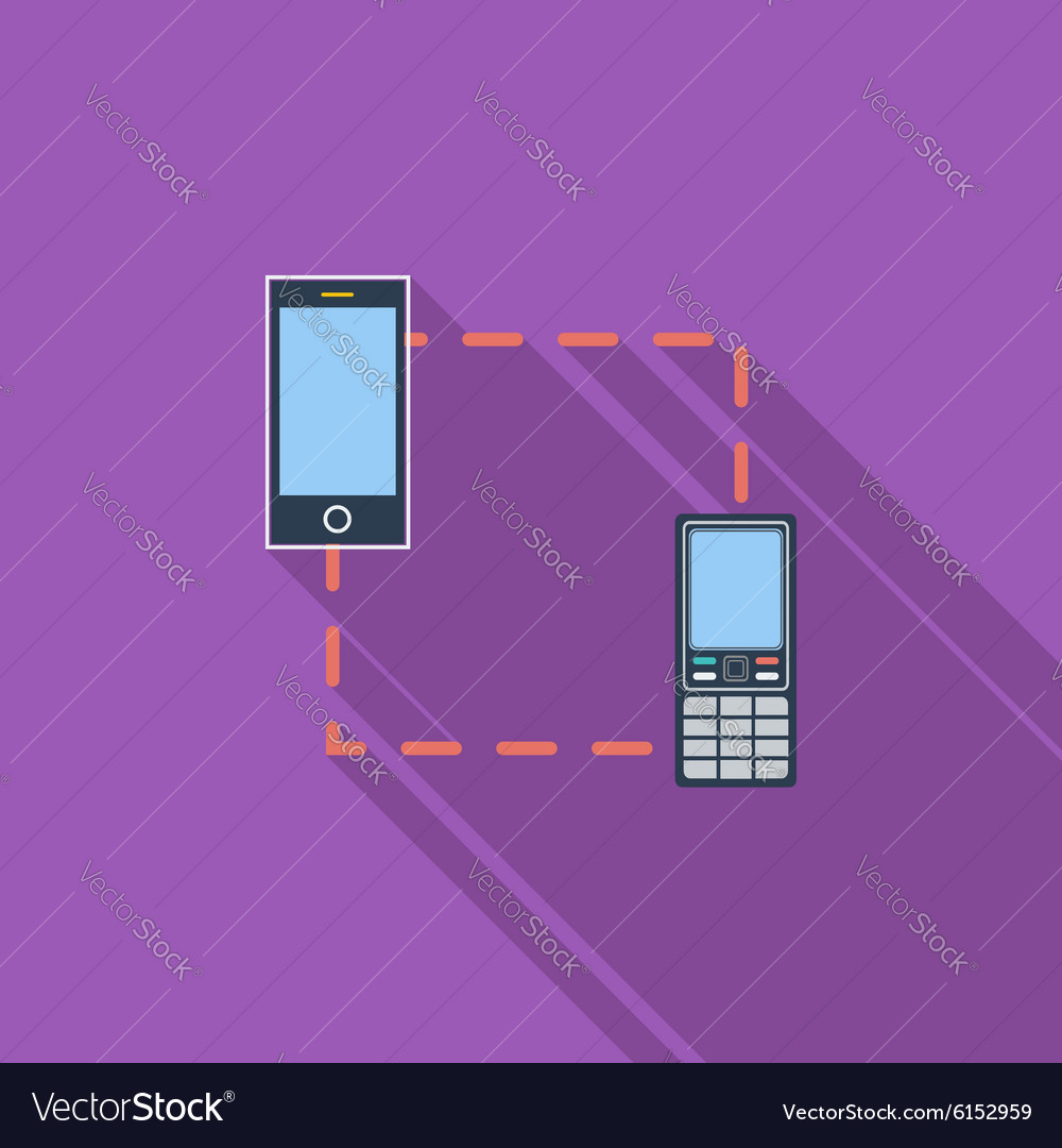 Phone sync single icon vector image