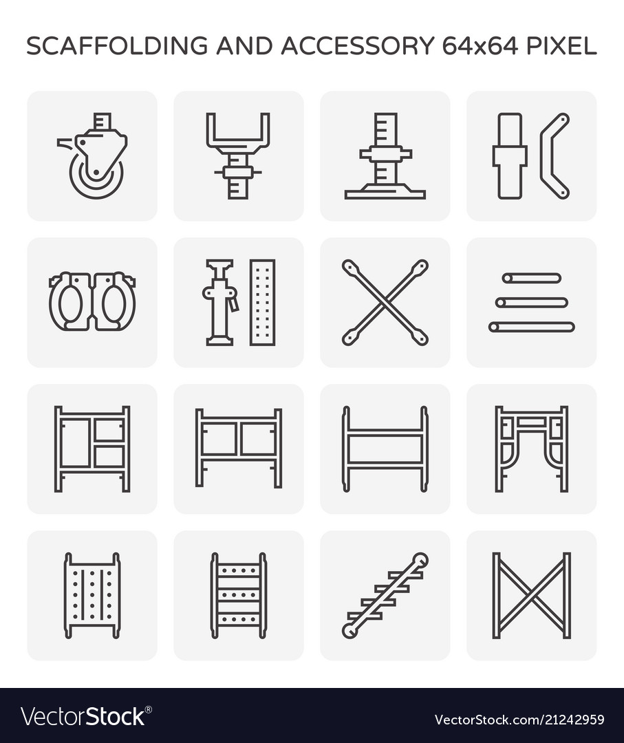 Scaffolding icon set