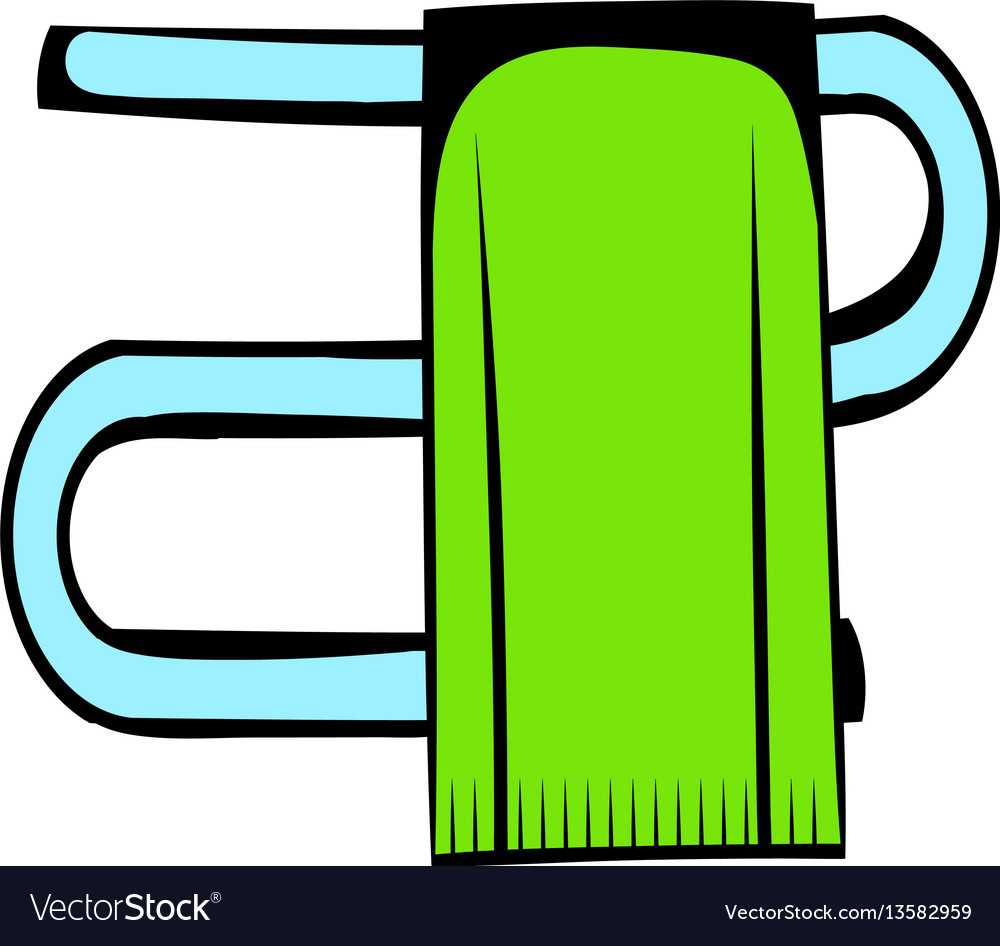 Trumpet with a towel icon cartoon vector image
