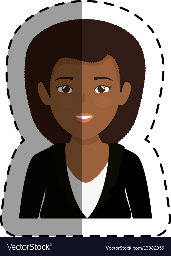 Young businesswoman avatar character