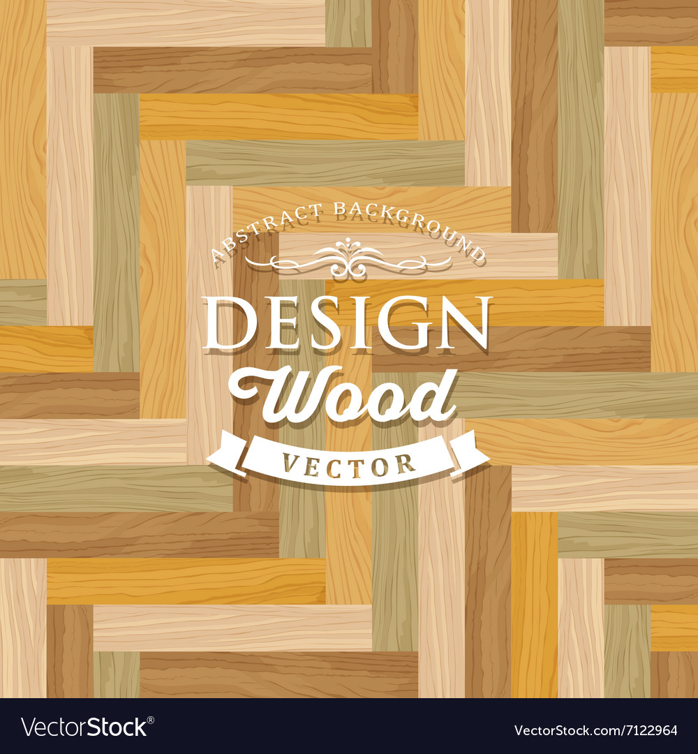 Abstract Multicolored Tile Wood Floor