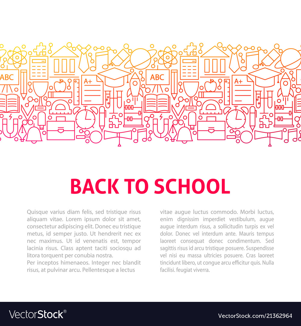 Back to school line design template