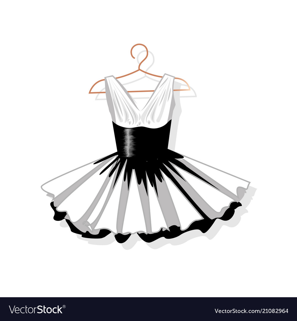 Dress with a lush skirt on the hanger