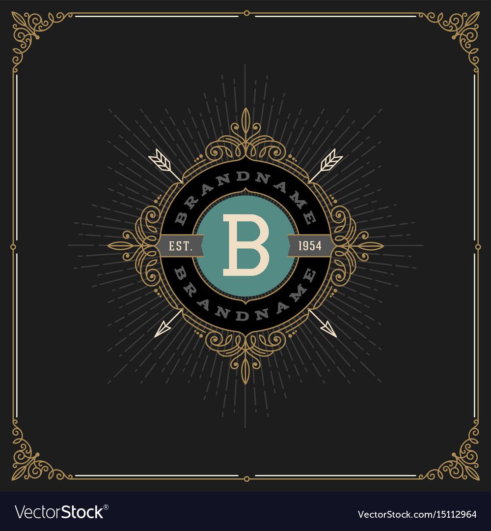 Flourishes monogram logo