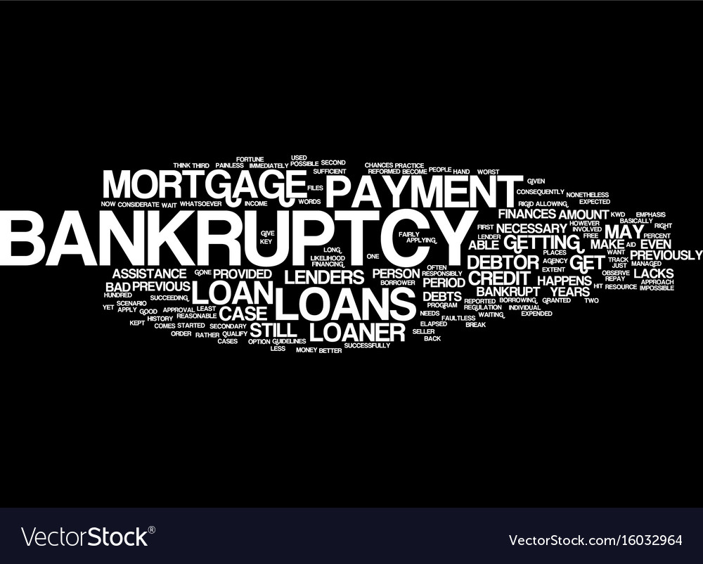 Loans After Bankruptcy >> Loans After Bankruptcy Text Background Word Cloud