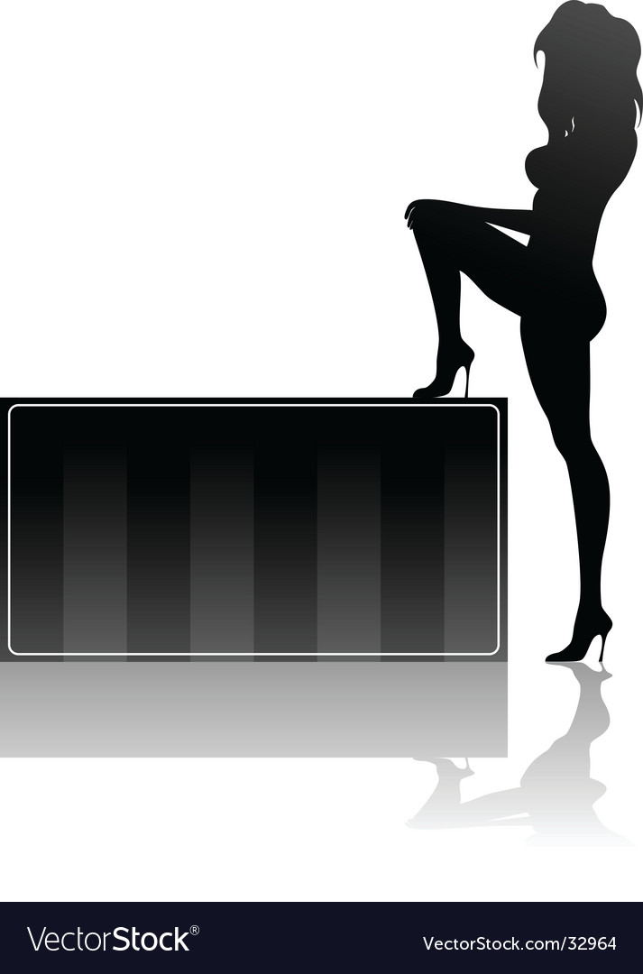 Woman and box
