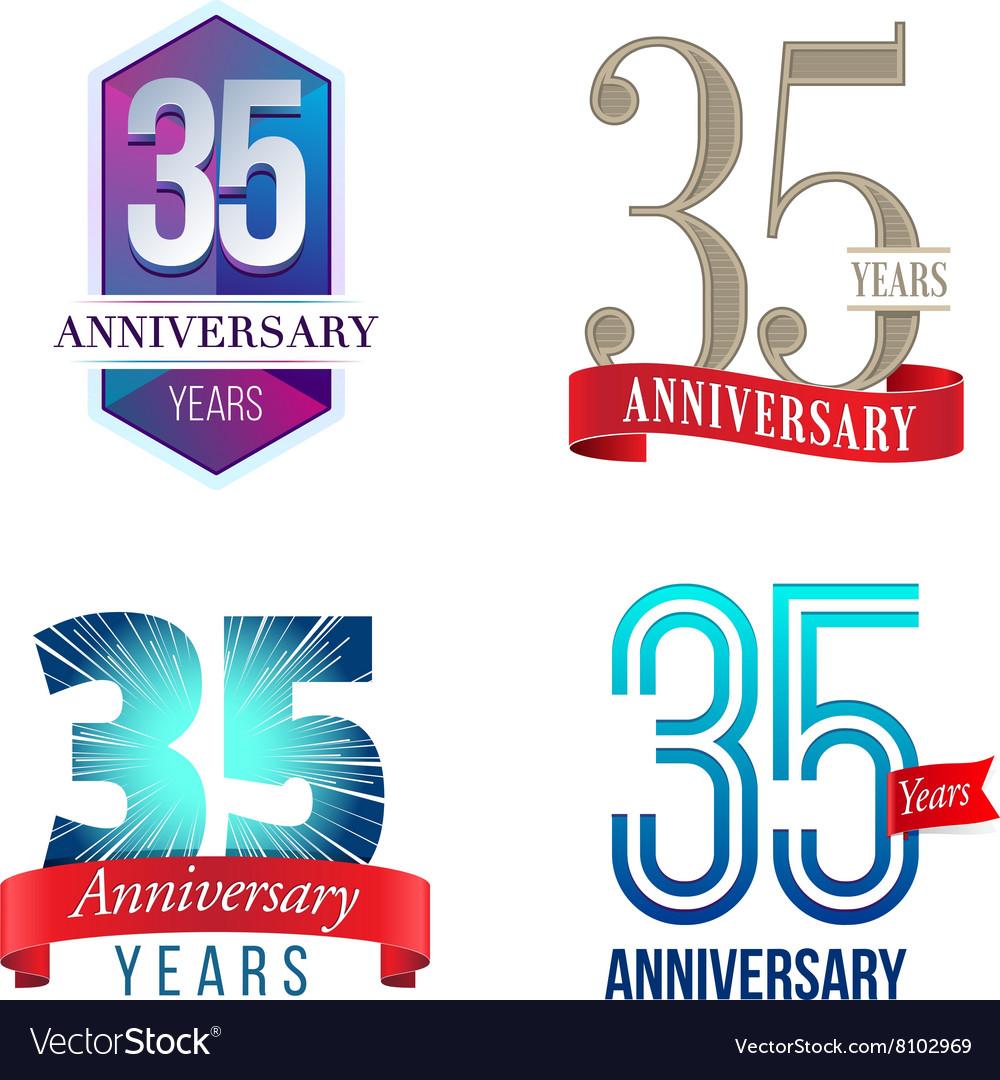 35 Years Anniversary Symbol Royalty Free Vector Image