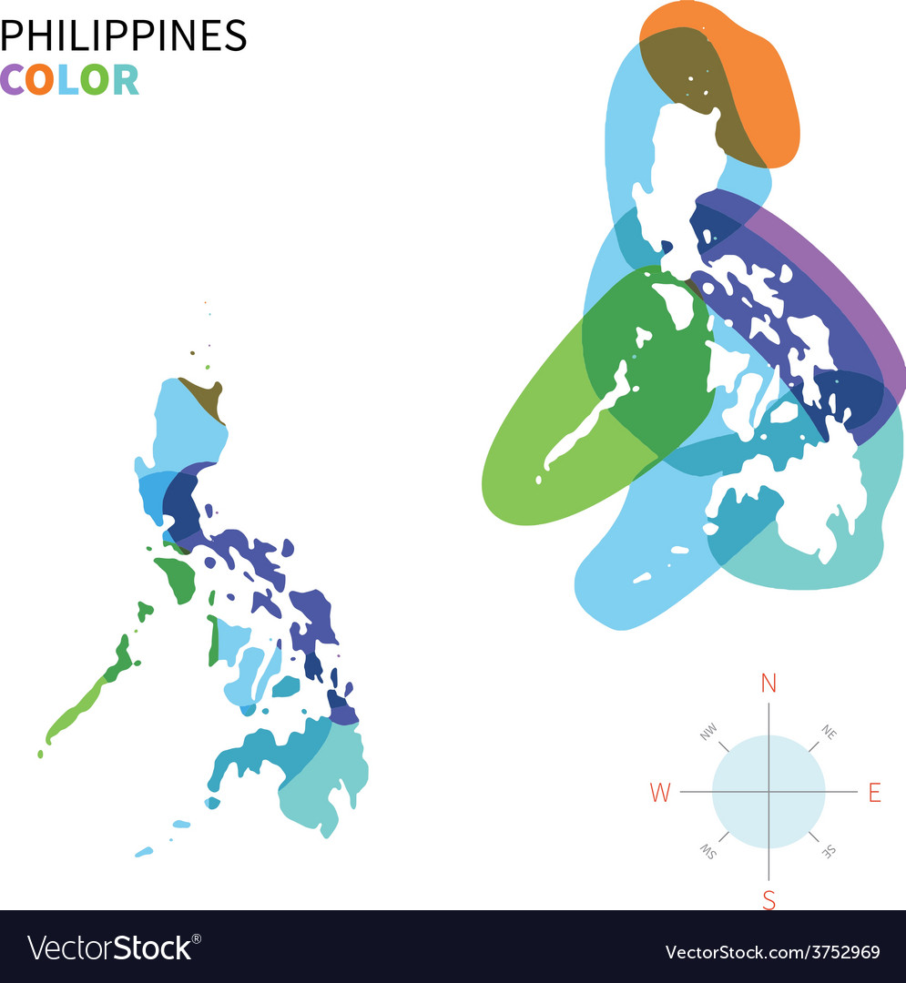 Abstract color map of Philippines