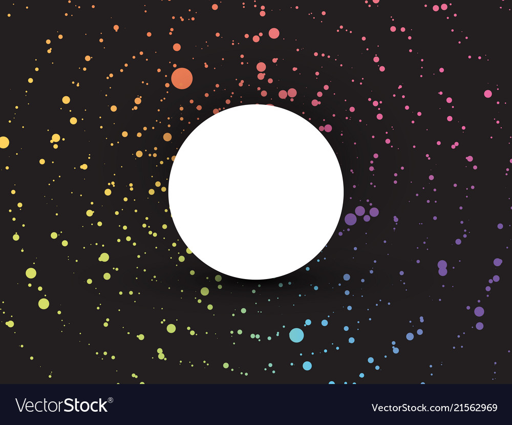 Color dotted background with blank circle