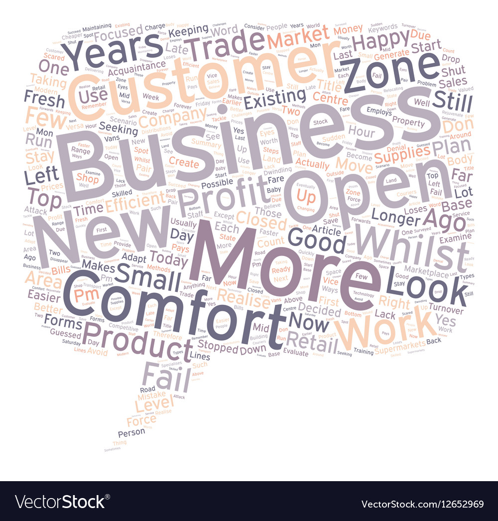 Is Your Business In The Comfort Zone text
