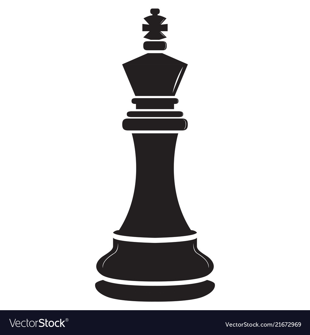 Isolated king chess piece icon Royalty Free Vector Image