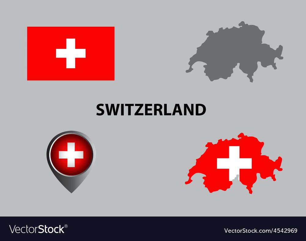 Map of Switzerland and symbol