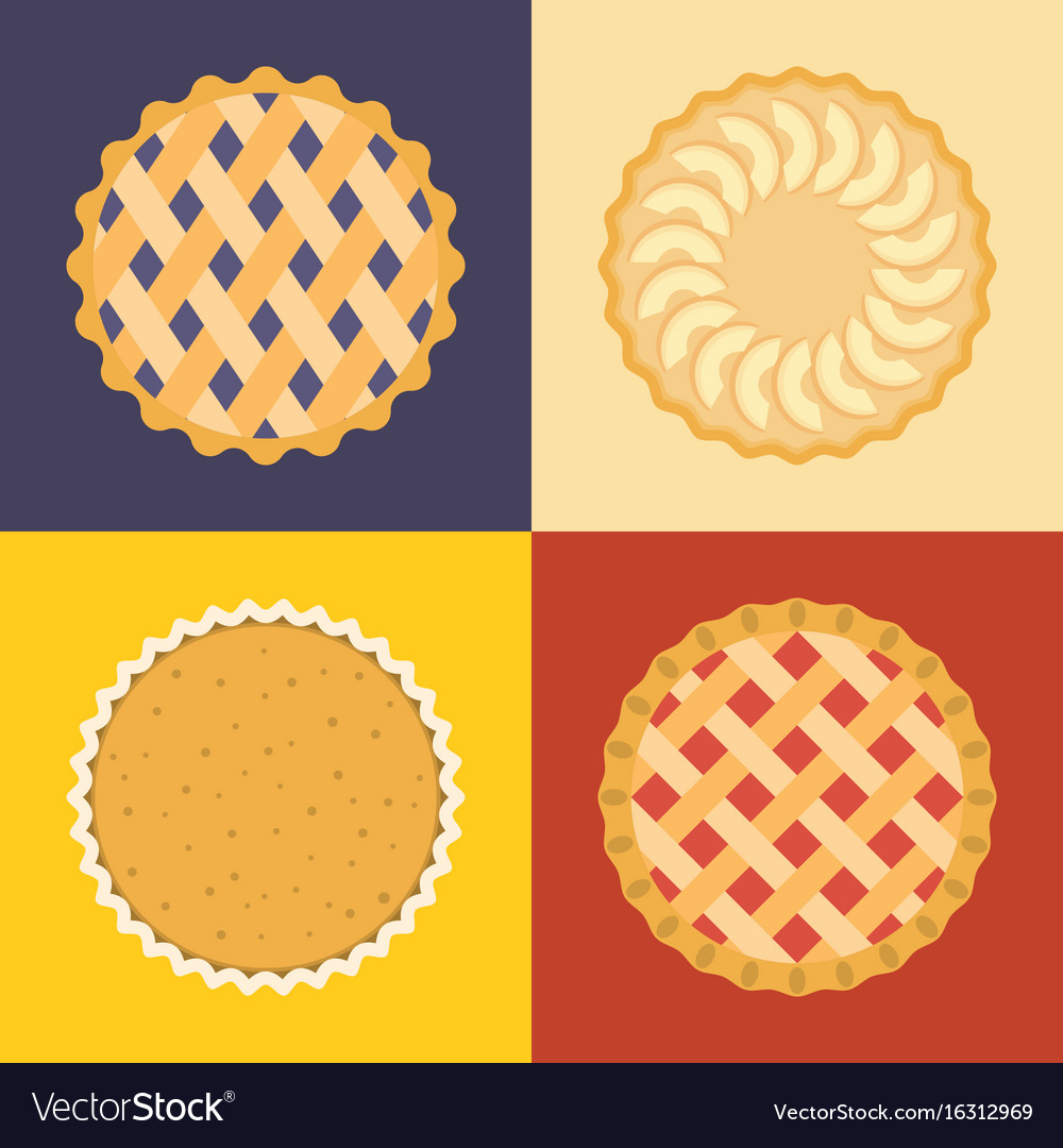 Pie icon set