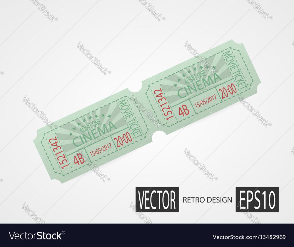 Retro cinema tickets green design
