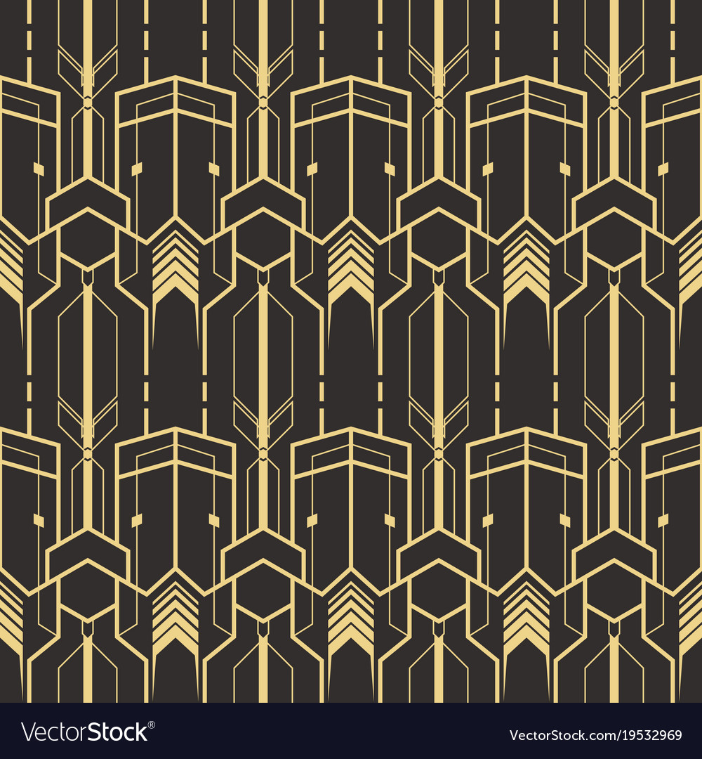 Template abstract art deco Royalty Free Vector Image