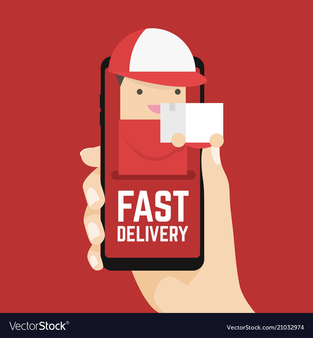 Fast delivery online on mobile in your hand
