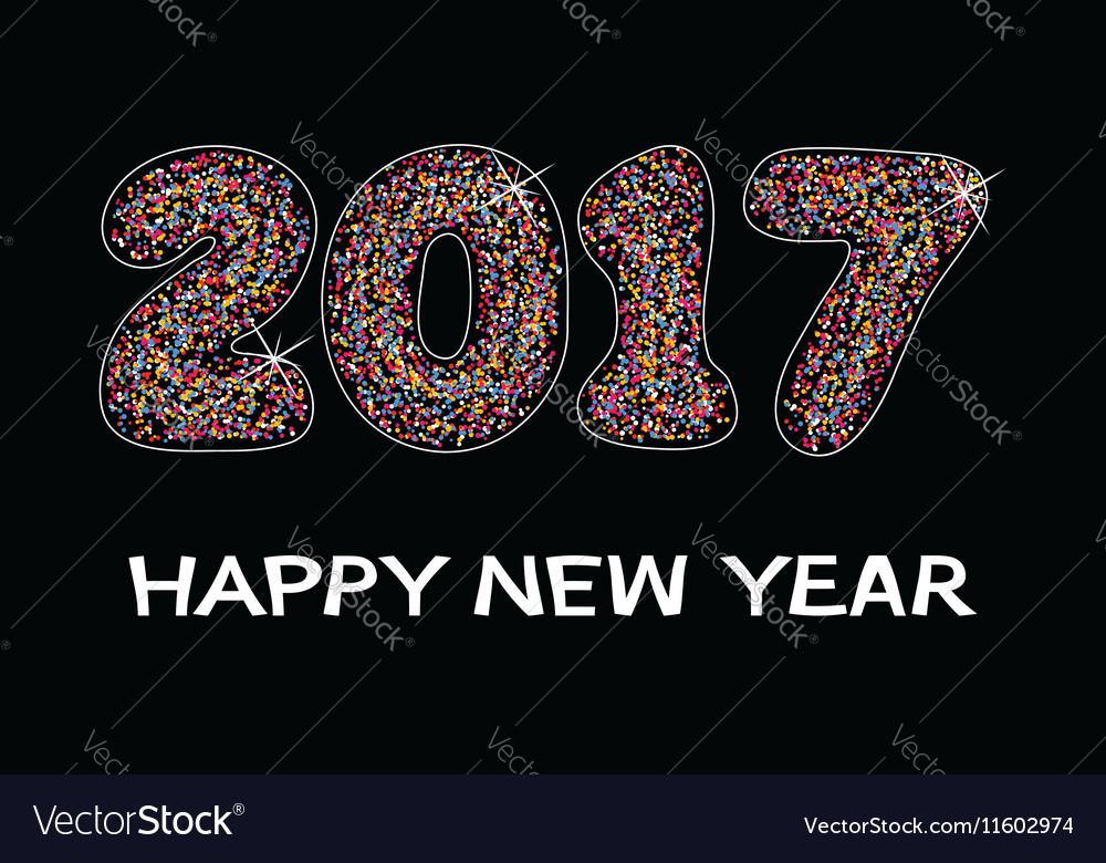 Happy new year 2017 celebration card