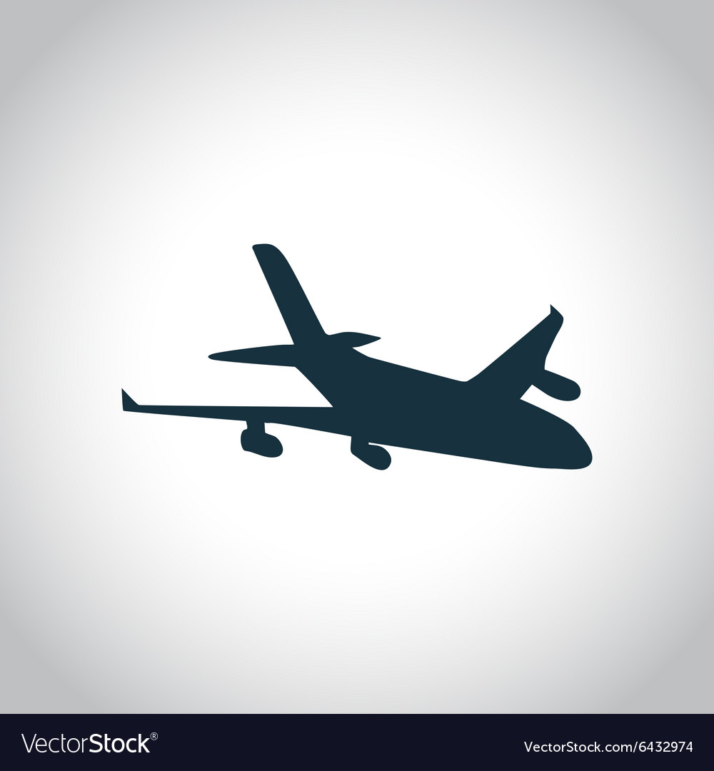 New plane black icon