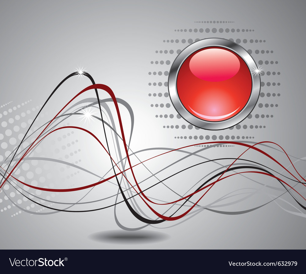 Abstract background with red button