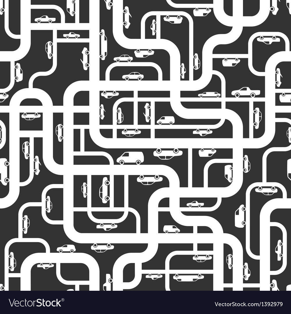Abstract roads seamless pattern