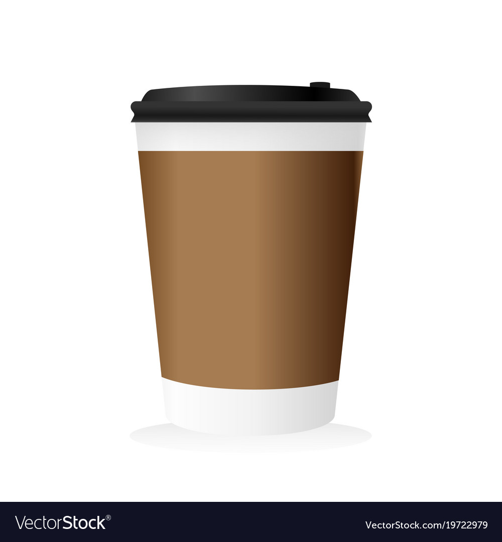 blank paper mockup of coffee cup royalty free vector image