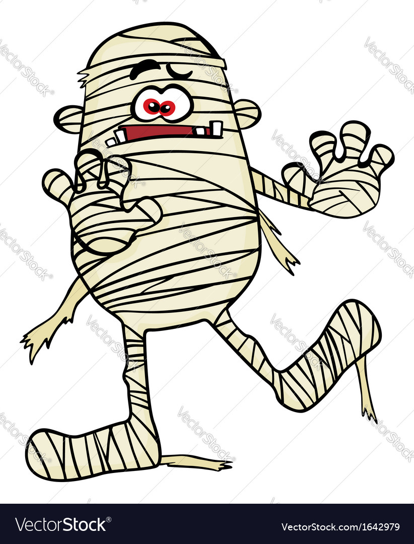Creepy mummy vector image