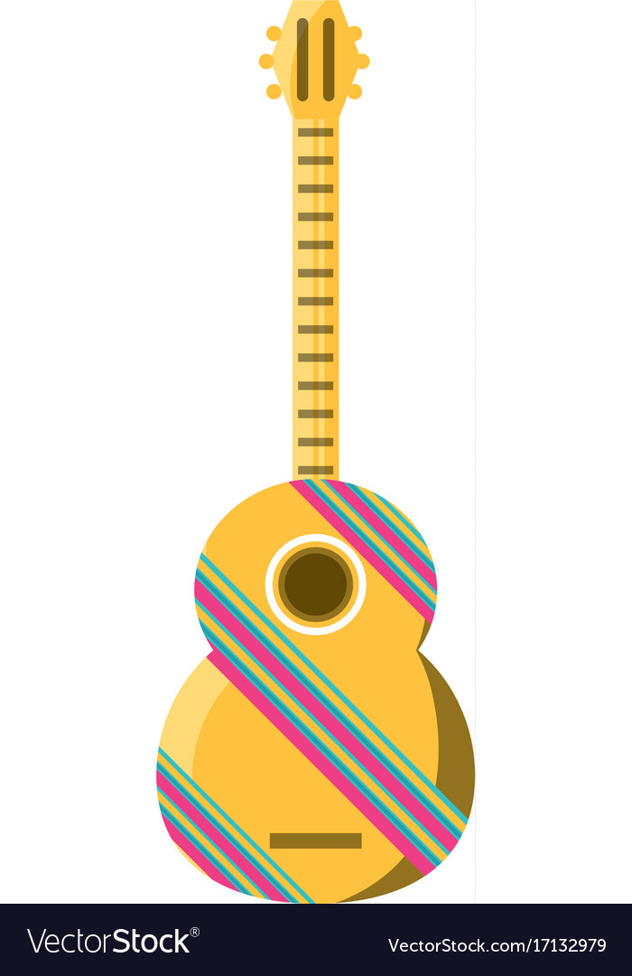 Decorative guitar vector image