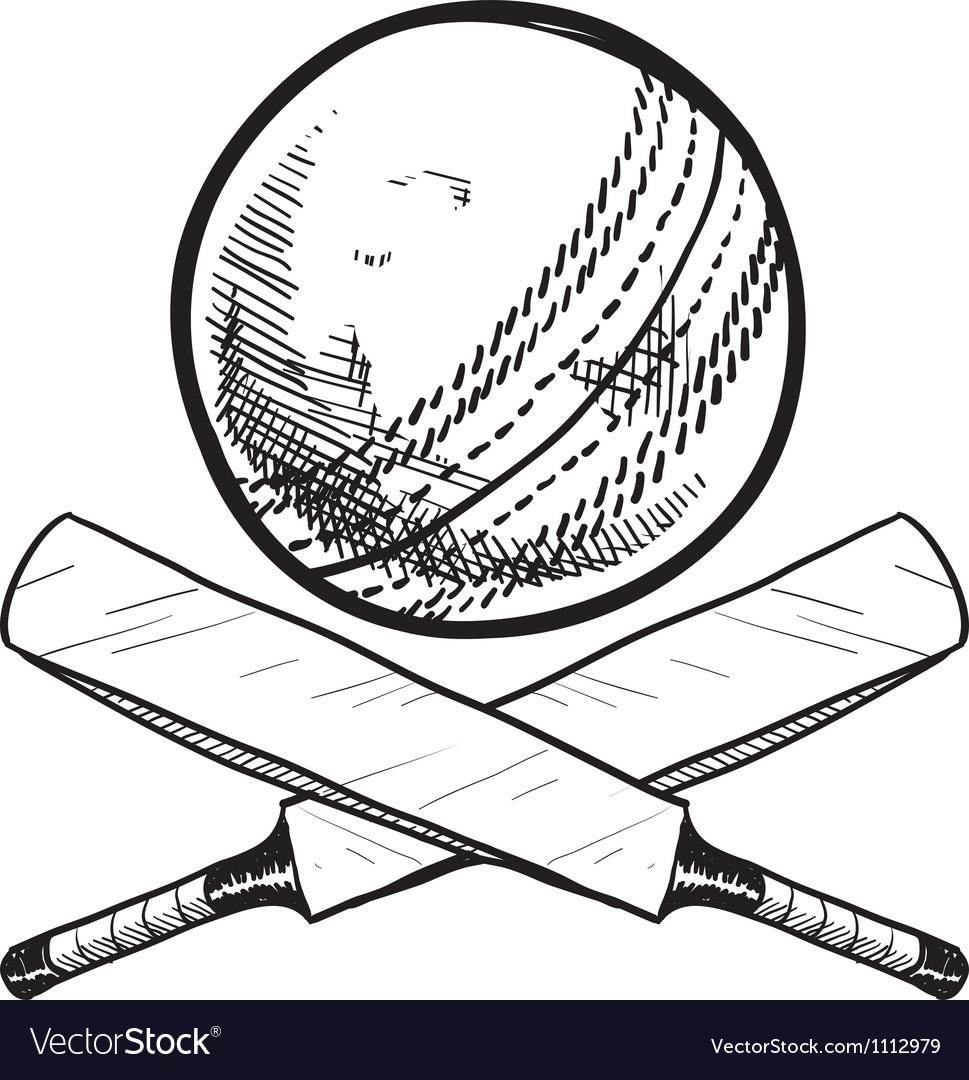 Doodle Cricket Ball Bat