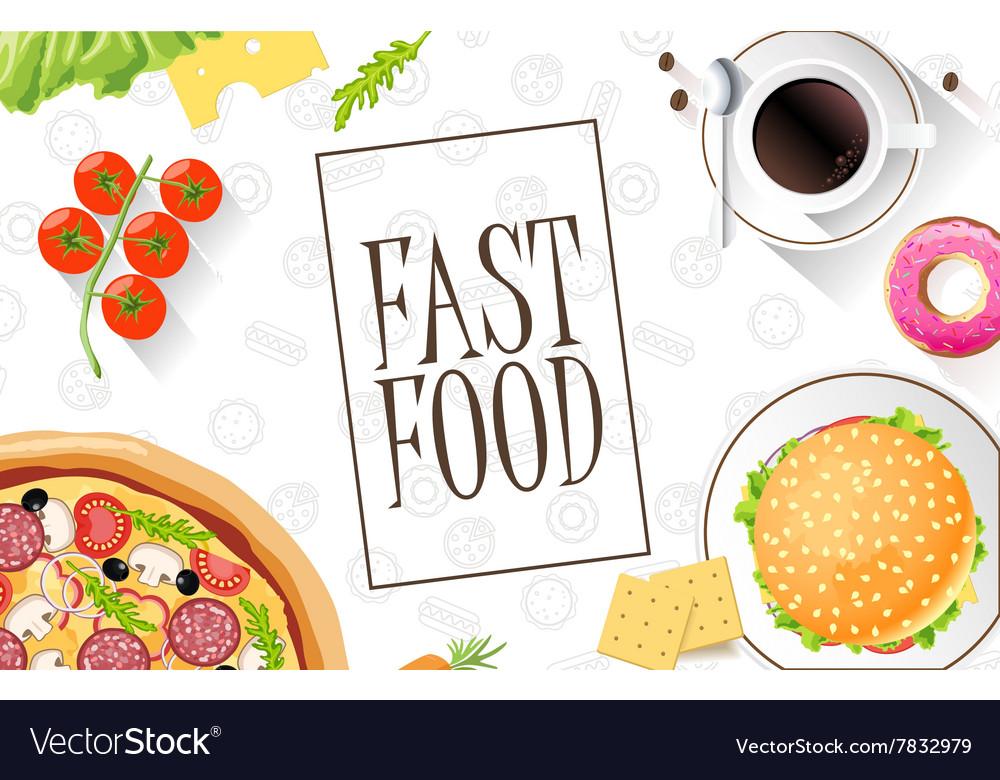 Fast food flat banner For decoration websites