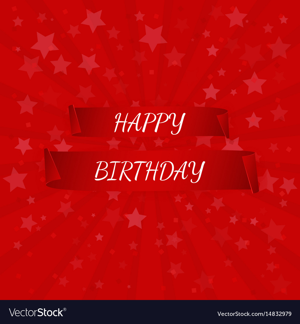 Happy birthday banner paper scrolls vector image